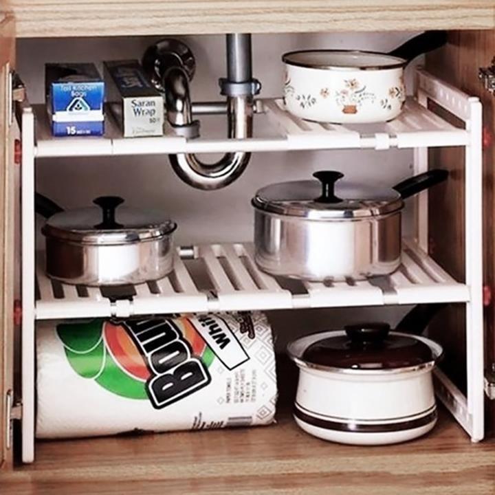 Kệ để gầm bếp ga đa năng Trắng (50 x 26 x 39 cm)