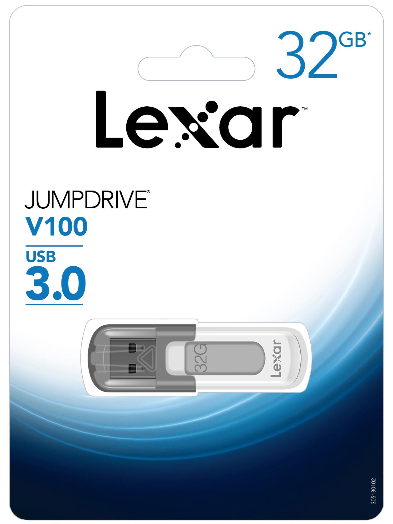 USB Lexar V100 JumpDrive 32GB - USB 3.0 - Hàng Chính Hãng