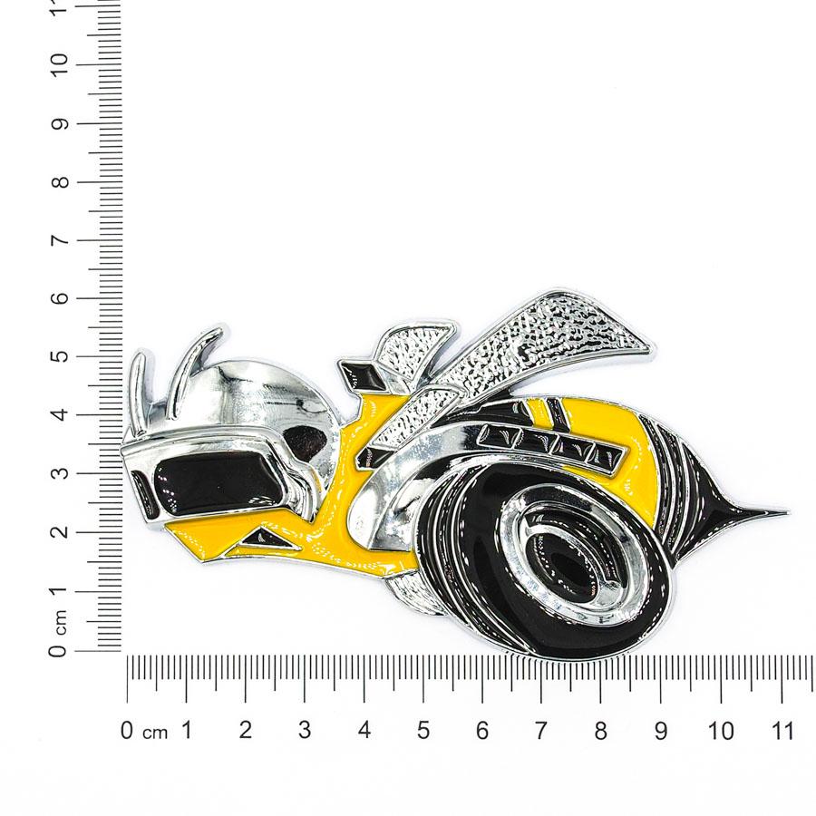 Sticker hình dán metal CON ONG 3D