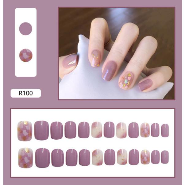 Bộ 24 móng tay giả nail thơi trang (như hình-R-100)