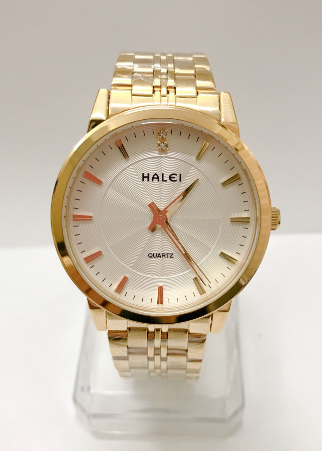 Đồng hồ Nam Halei cao cấp - HL552 Dây vàng mặt trắng