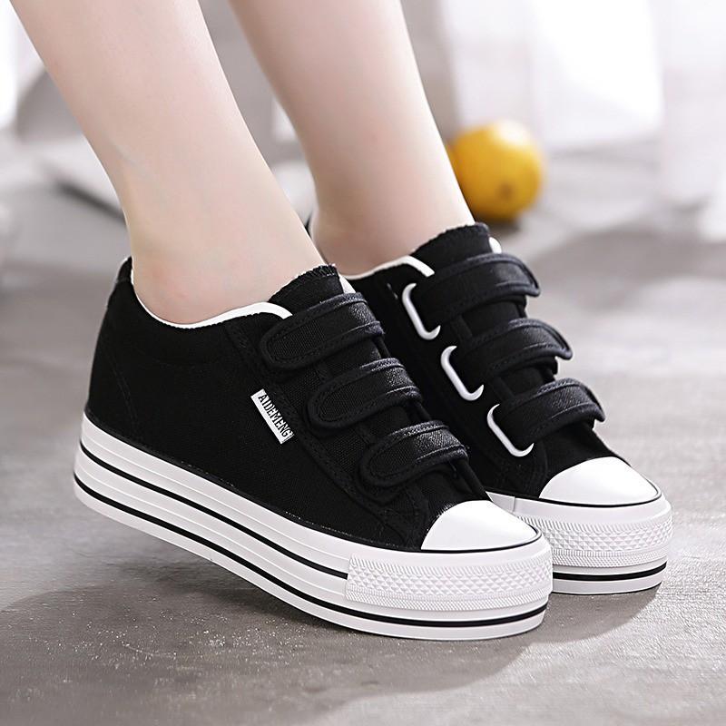 Giày bata nữ học sinh quai dán độn đế siêu xinh MBS167 - Mery Shoes