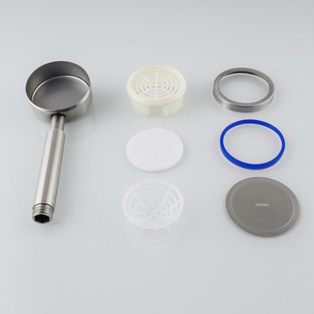Vòi sen tăng áp, bát sen tắm inox 304 KAMA PK03, vòi nước tăng áp, bát sen tăng áp inox 304, bề mặt inox 304 nguyên bản, không rỉ sét, vòi sen tắm tăng áp lực nước