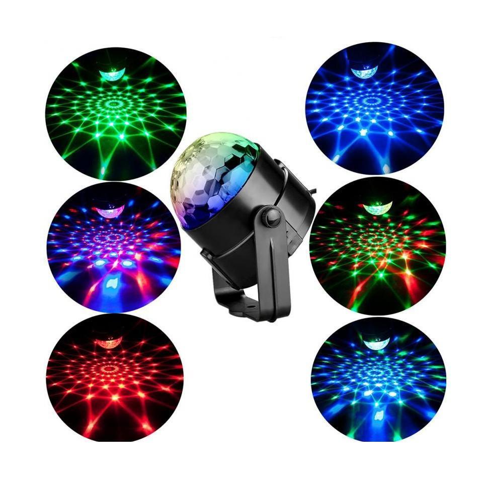 Đèn trụ xoay mini cảm ứng nhạc Thiên mã