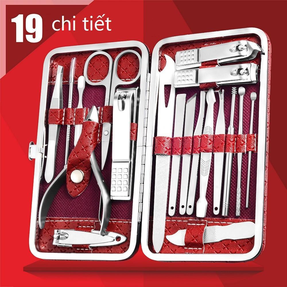 Bộ bấm móng tay 19 món thép không gỉ-bộ cắt móng tay cao cấp