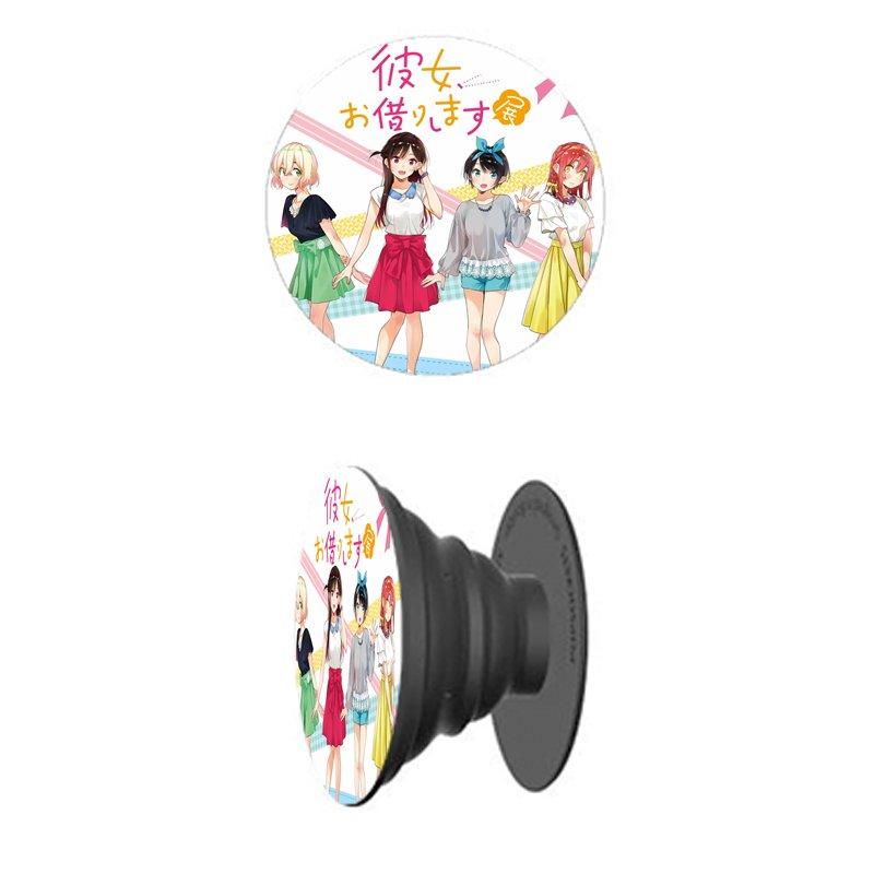 Giá đỡ điện thoại in hình Kanojo Okarishimasu DỊCH VỤ THUÊ BẠN GÁI anime chibi