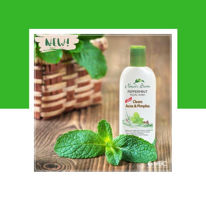 Sữa rửa mặt kháng viêm giảm mụn Peppermint Facial Wash 100ml 2