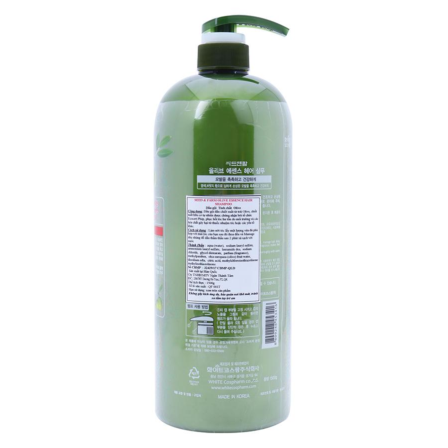 Combo Dầu Gội Và Dầu Xả Organia Seed & Farm Olive Essence Hair (1500ml x 2 Chai)