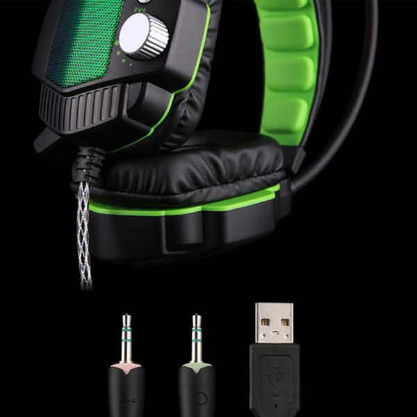 Tai nghe chuyên game chế độ Rung + Đèn led OVANN X90-C chính hãng (Xanh đen)