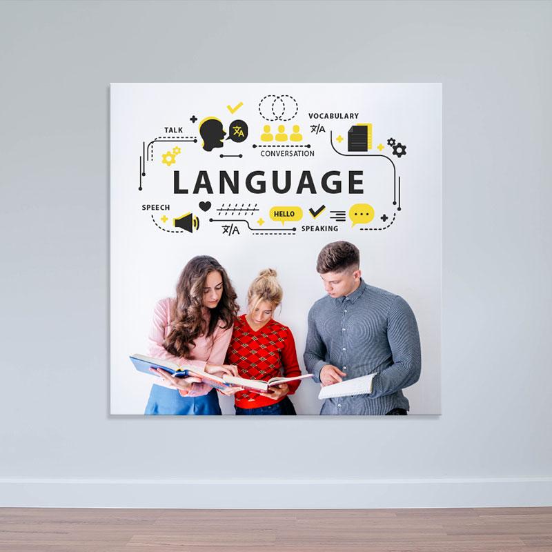 Tranh lớp học tiếng anh độc đáo | Tranh trang trí đẹp W2188