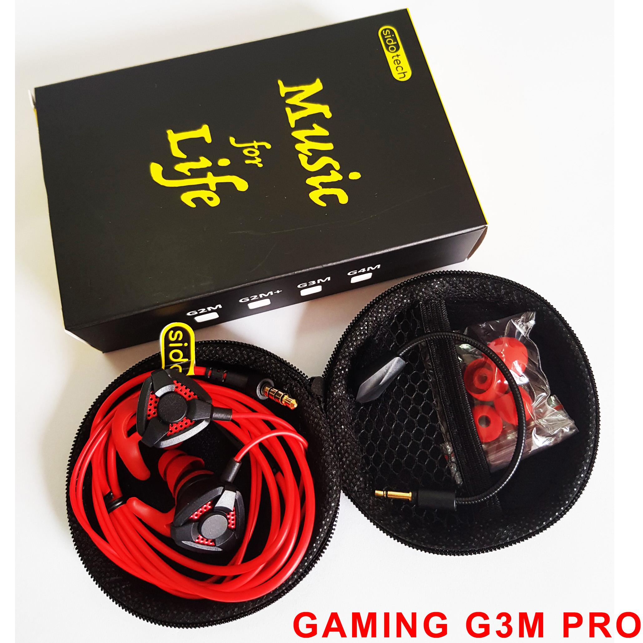 Tai Nghe Gaming Cho Điện Thoại Sidotech G2M Tặng Kèm Jack 3.5mm - Hàng Chính Hãng
