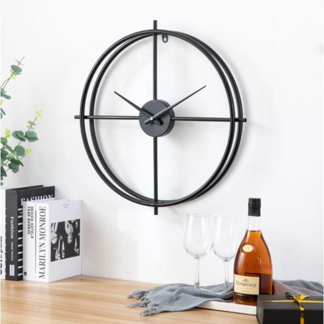 Đồng hồ treo tường cỡ lớn 50cm, bằng Kim Loại Cao Cấp Dành Cho Gia Đình, Văn Phòng