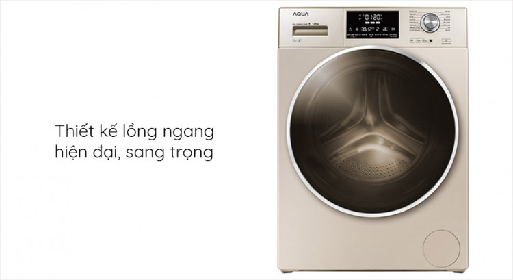 Máy giặt AQUA AQD-DD1200C N2, 12kg, Inverter thiết kế hiện đại, sang trọng