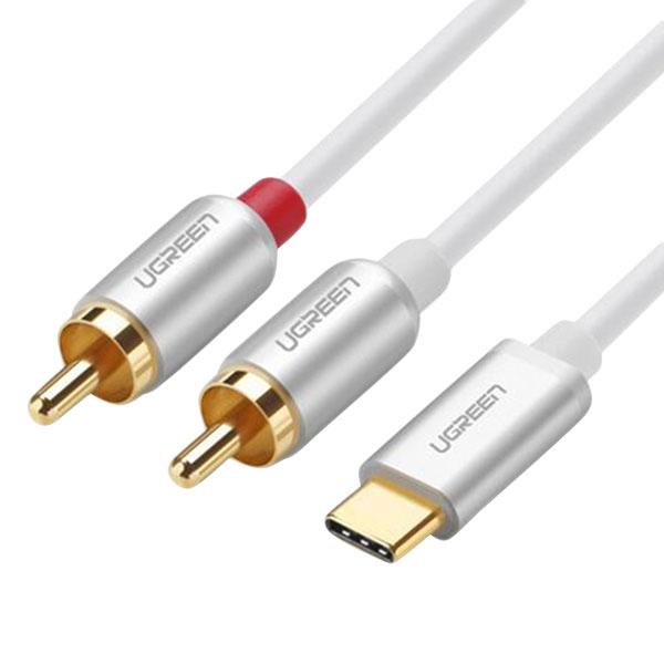 Cáp Chuyển Đổi Ugreen USB Type-C Sang 2RCA - Hàng Chính Hãng