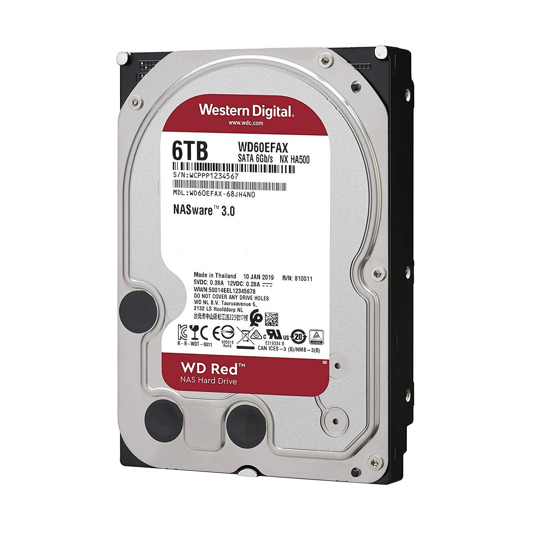 Ổ Cứng HDD NAS WD Red 6TB/256MB/5400/3.5 - WD60EFAX- Hàng chính hãng