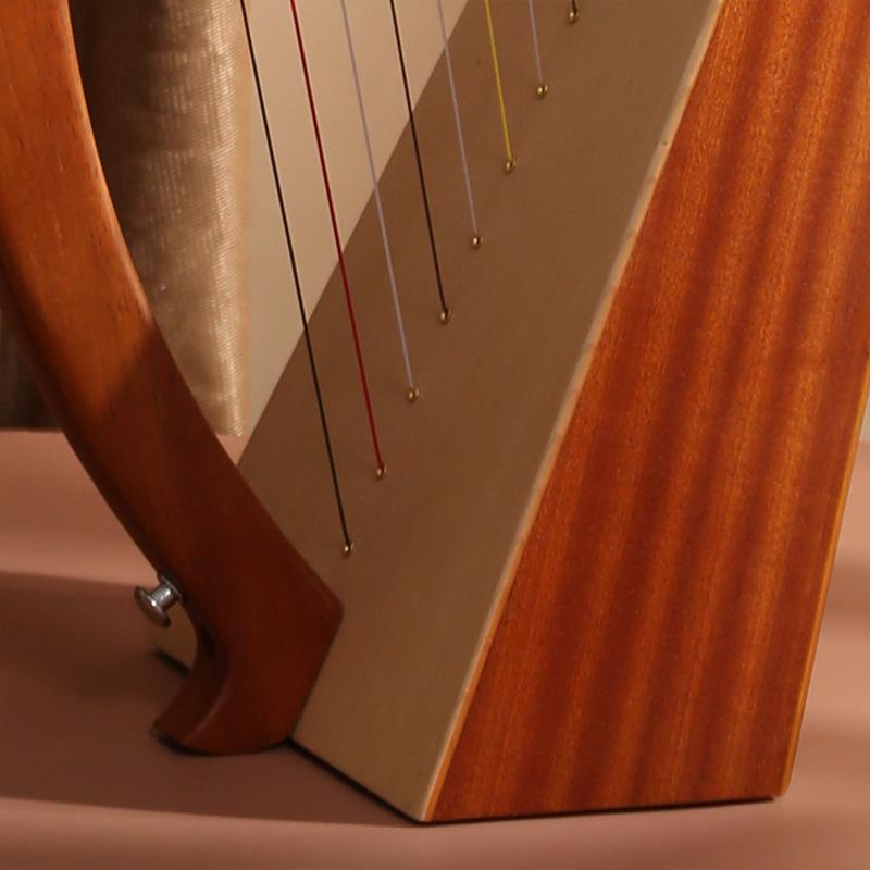 Đàn hạc cầm tay đàn Lyre Thổ Nhĩ Kỳ đàn hạc cầm Lyre Harp cao cấp IM0012-W1000 Tặng Đàn kalimba 17 phím gỗ nguyên khối Mahagony PJLIM72