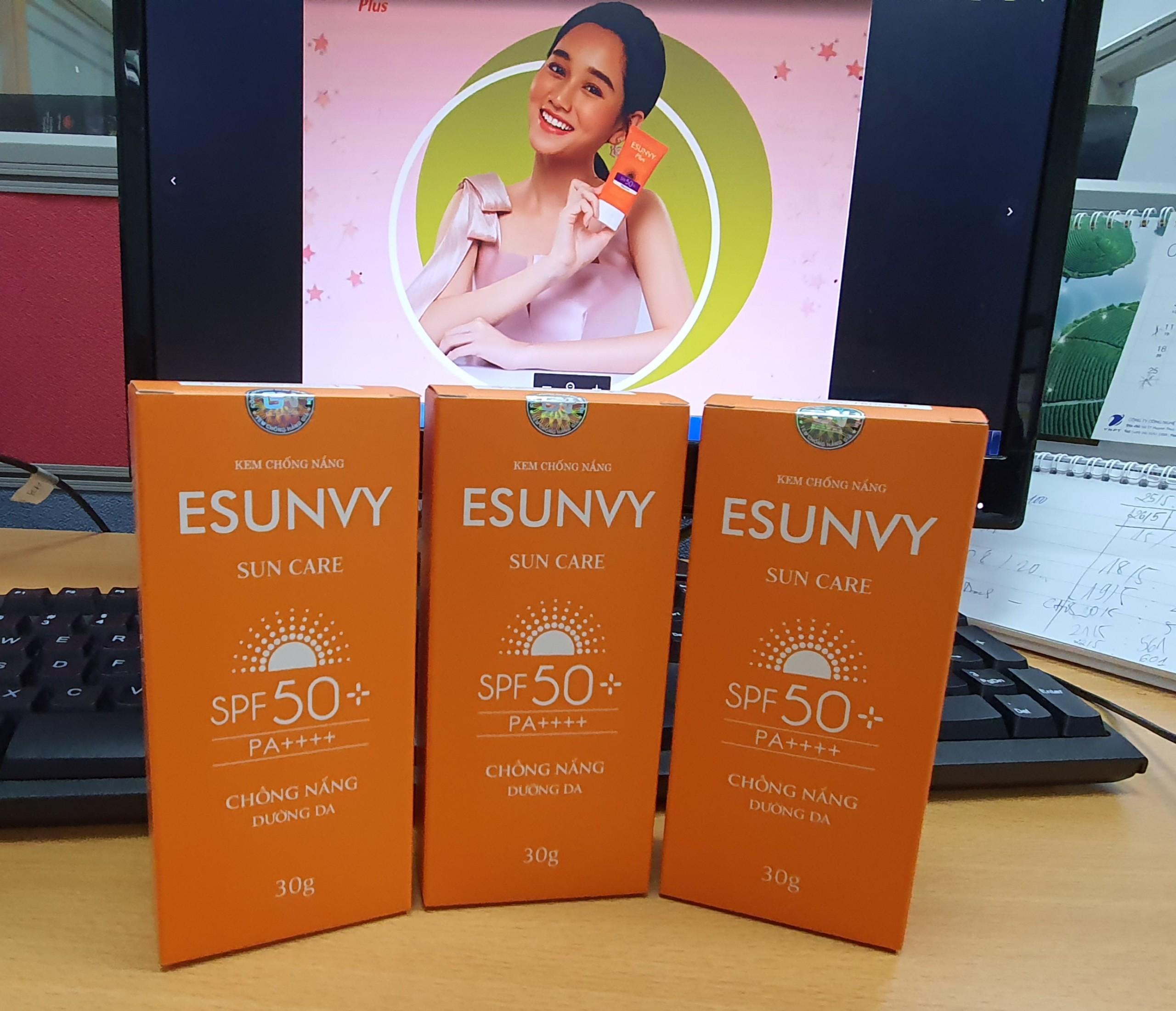 KEM CHỐNG NẮNG ESUNVY SUN CARE SPF50+/PA++++ - Chống nắng, dưỡng da - Tuýp 30g