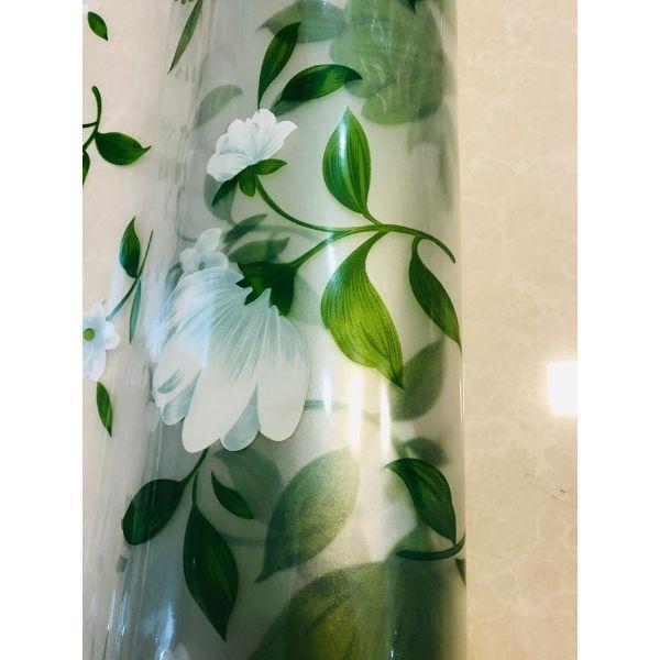 5m  decal dán kính hoa trắng  DK31