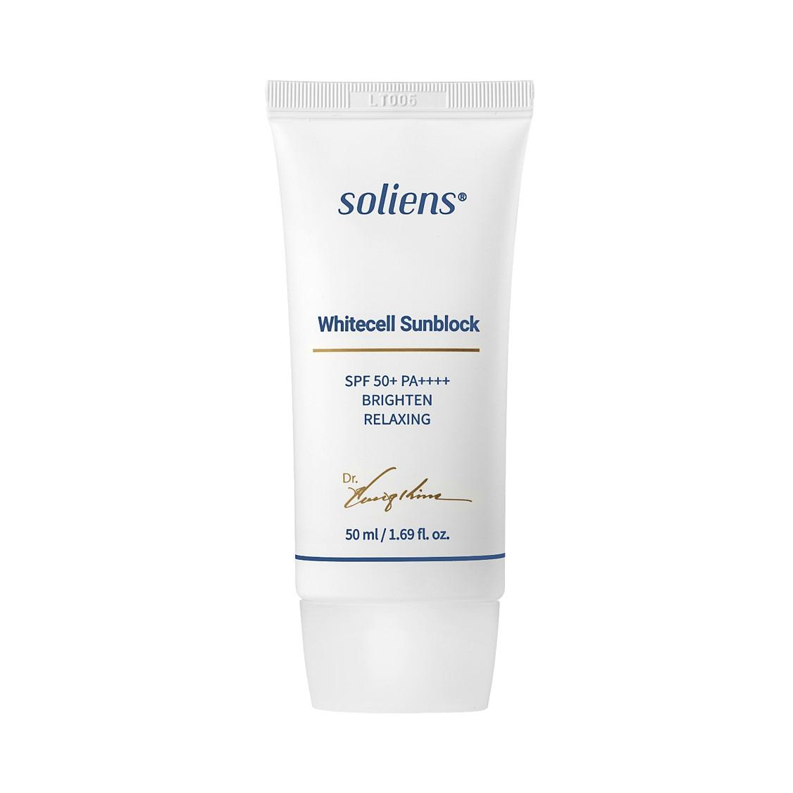 Chăm sóc cao cấp Soliens Whitecell Sunblock  Kem chống nắng làm trắng da Whitecell Sunblock