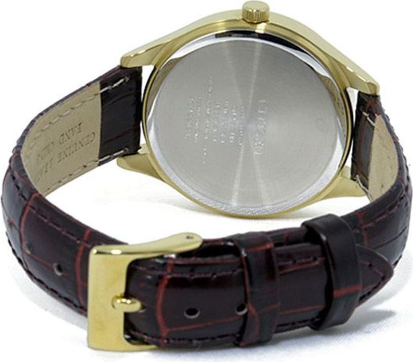 Đồng Hồ Citizen Nữ Đính Đá Swarovski Dây Da Pin-Quartz ED8162-03P - Mặt Vàng (36mm)