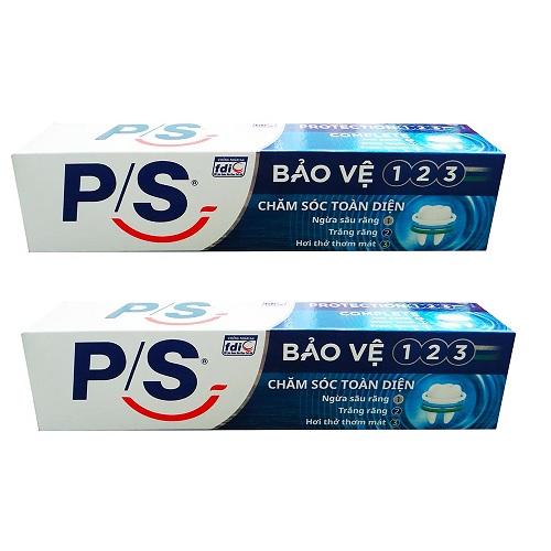 Combo 2 hộp Kem Đánh Răng P/S Bảo Vệ 123 Chăm Sóc Toàn Diện ( 190g / hộp )