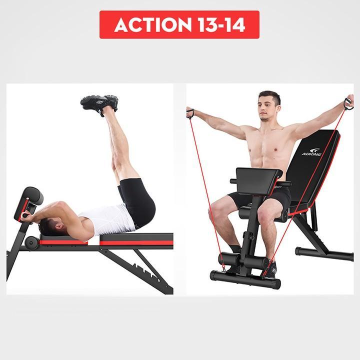 Ghế tập tạ đa năng cao cấp hỗ trợ tập gym hiệu quả tại nhà,Ghế Tập Gym Đa Năng, ghế nằm đẩy tạ , gấp gọn