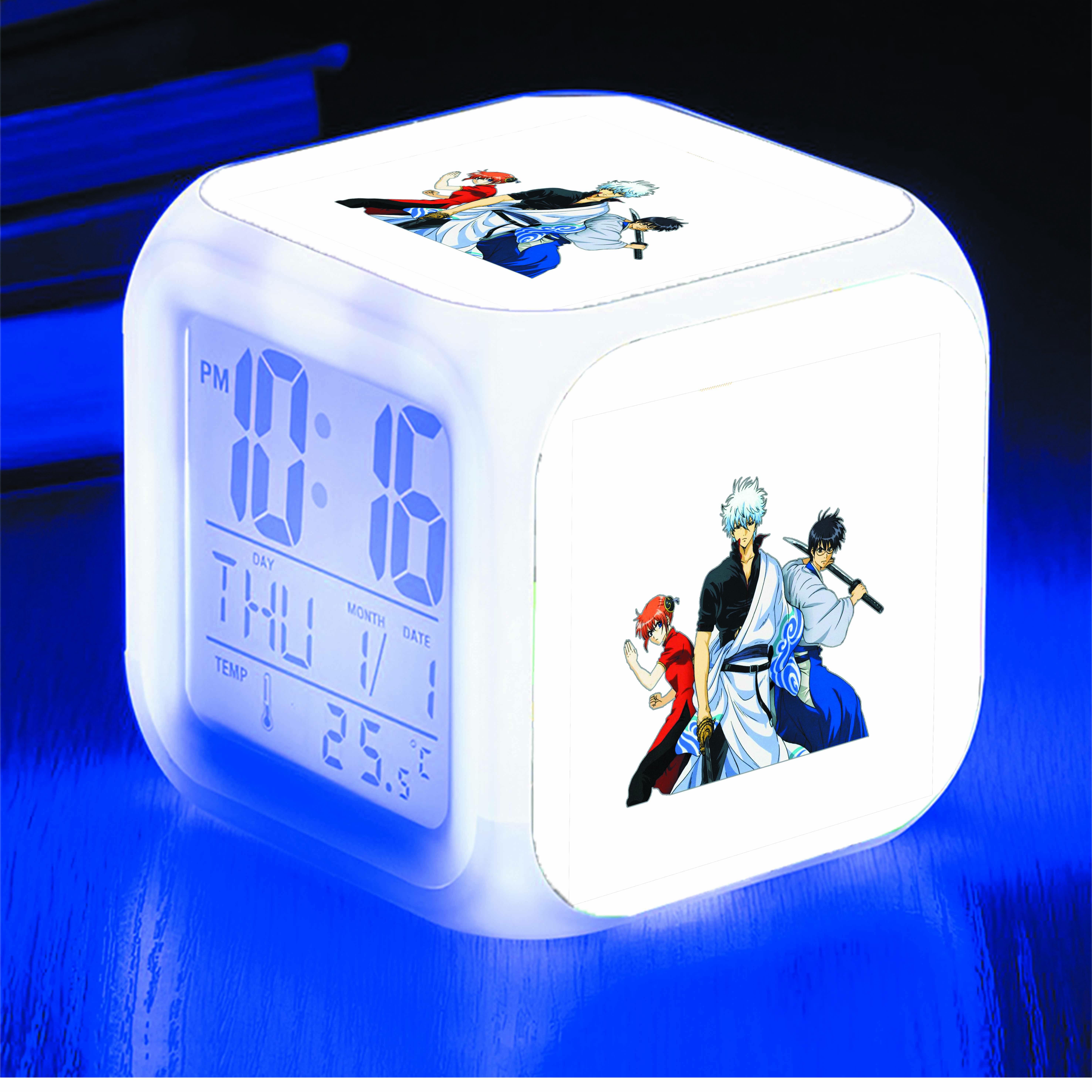 Đồng hồ báo thức để bàn IN HÌNH Gintama - Linh Hồn Bạc anime