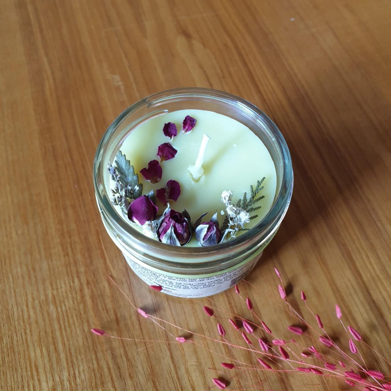 Nến thơm tinh dầu Ngọc lan tây 100g - giúp thư giãn, thơm phòng khử mùi, handmade
