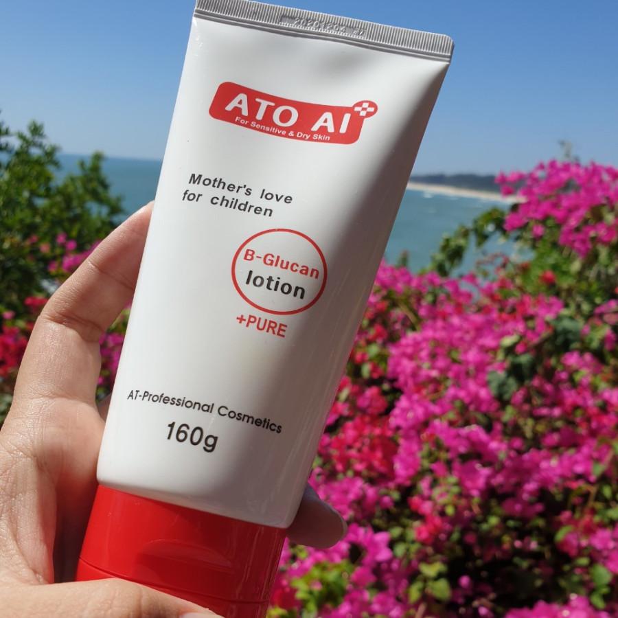 Sữa dưỡng da chiết xuất từ thiên nhiên dành cho da nhạy cảm và da chàm, viêm da cơ địa ATO AI 160g