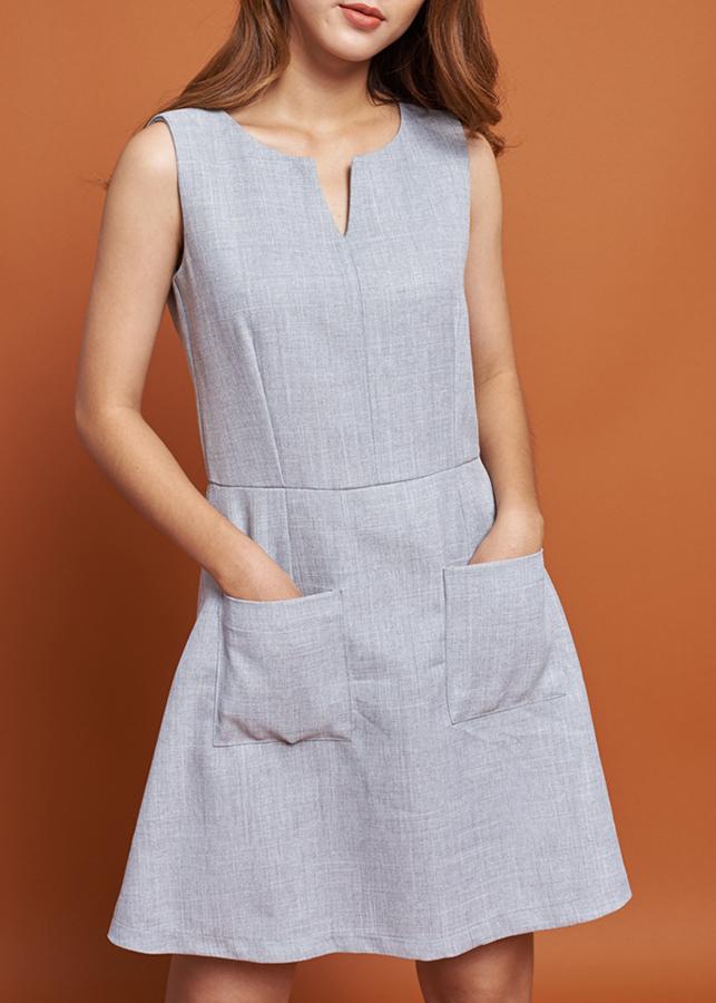 Đầm Nữ Chữ A Mint Basic 1450LG - Xám Nhạt Size M
