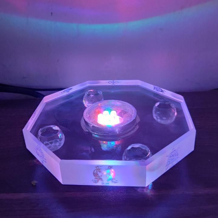 Đế đèn led bát giác làm sáng tượng phật, tháp xá lợi