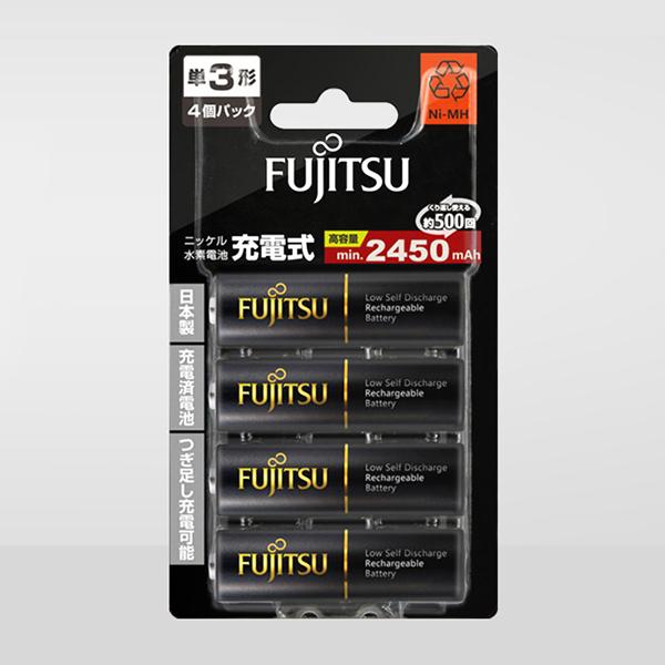 Pin Sạc Aa Fujitsu 2450mAh Vỉ 4 Viên (Bản Nội Địa Nhật Bản) - Hàng Nhập Khẩu