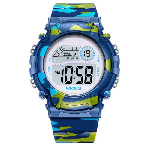 Đồng hồ trẻ em đèn led 7 màu nhiều chức năng 1015