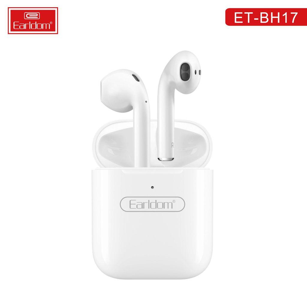Tai nghe Iphone bluetooth kiểu dáng Airpods BH17, tay nge không dây hai bên chống ồn TWS cao cấp - bảo hành 1 năm