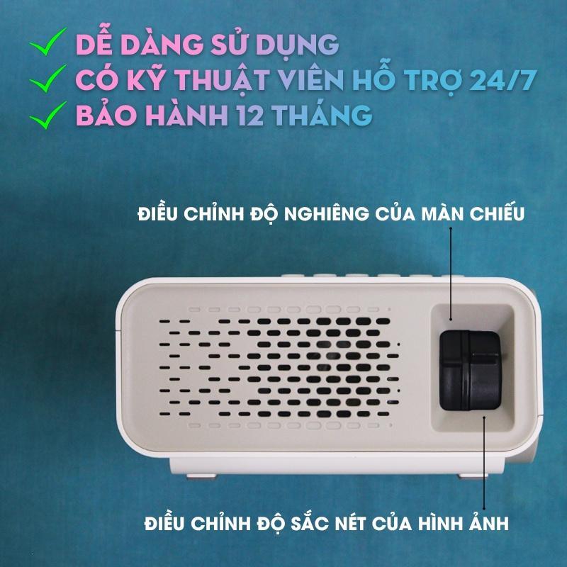 Máy Chiếu Mini Xem Phim Giải Trí Độ Phân Giải Full HD 1080P YG530 Ver 3 S+ Bảo Hành 12 Tháng & Tặng Dây HDMI - Hàng chính hãng
