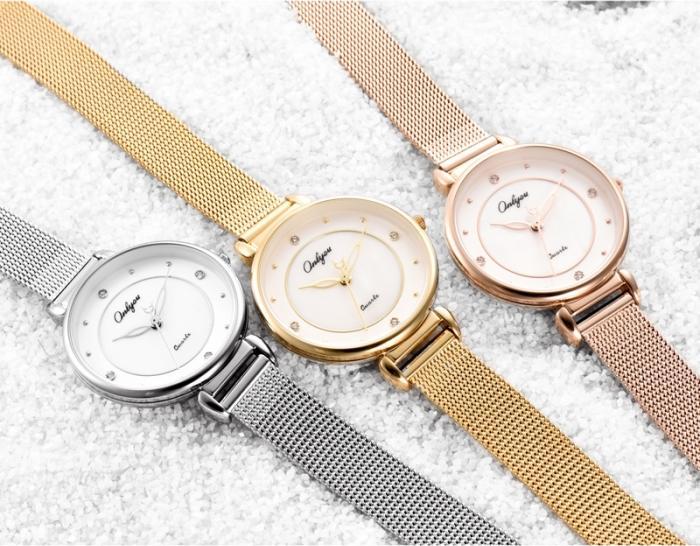 Đồng hồ Onlyou Nữ 81163LA Dây Lưới 28mm