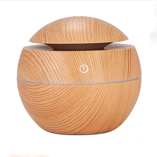 Máy xông tinh dầu gỗ tròn, Máy khuếch tán tinh dầu nhỏ gọn, Máy khuếch tán tinh dầu