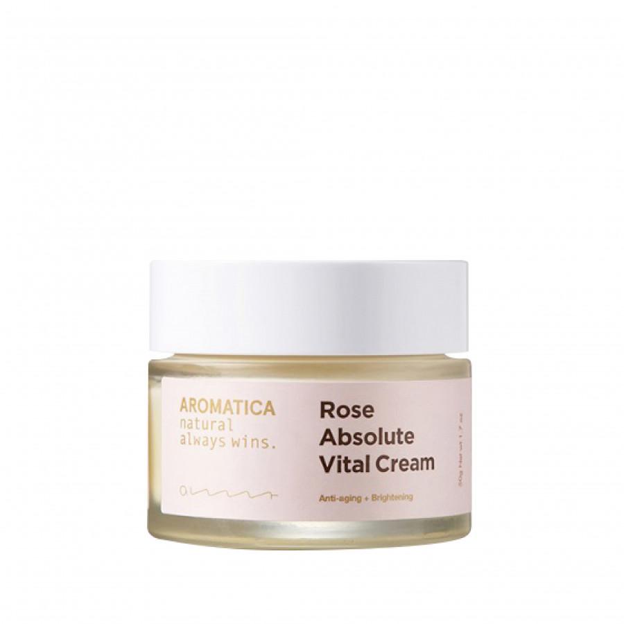 Kem dưỡng trắng, dưỡng ẩm, chống lão hóa chiết xuất hoa hồng nguyên chất AROMATICA Rose Absolute Vital Cream