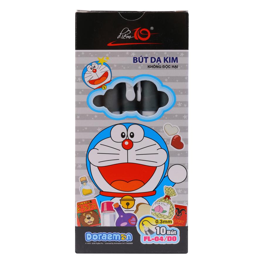 Hộp 10 Bút Dạ Kim Thiên Long FL04/DO