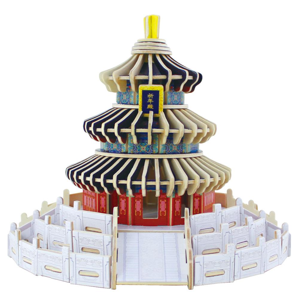 Đồ chơi lắp ráp gỗ 3D Mô hình Tháp Thiên Đường MJ402