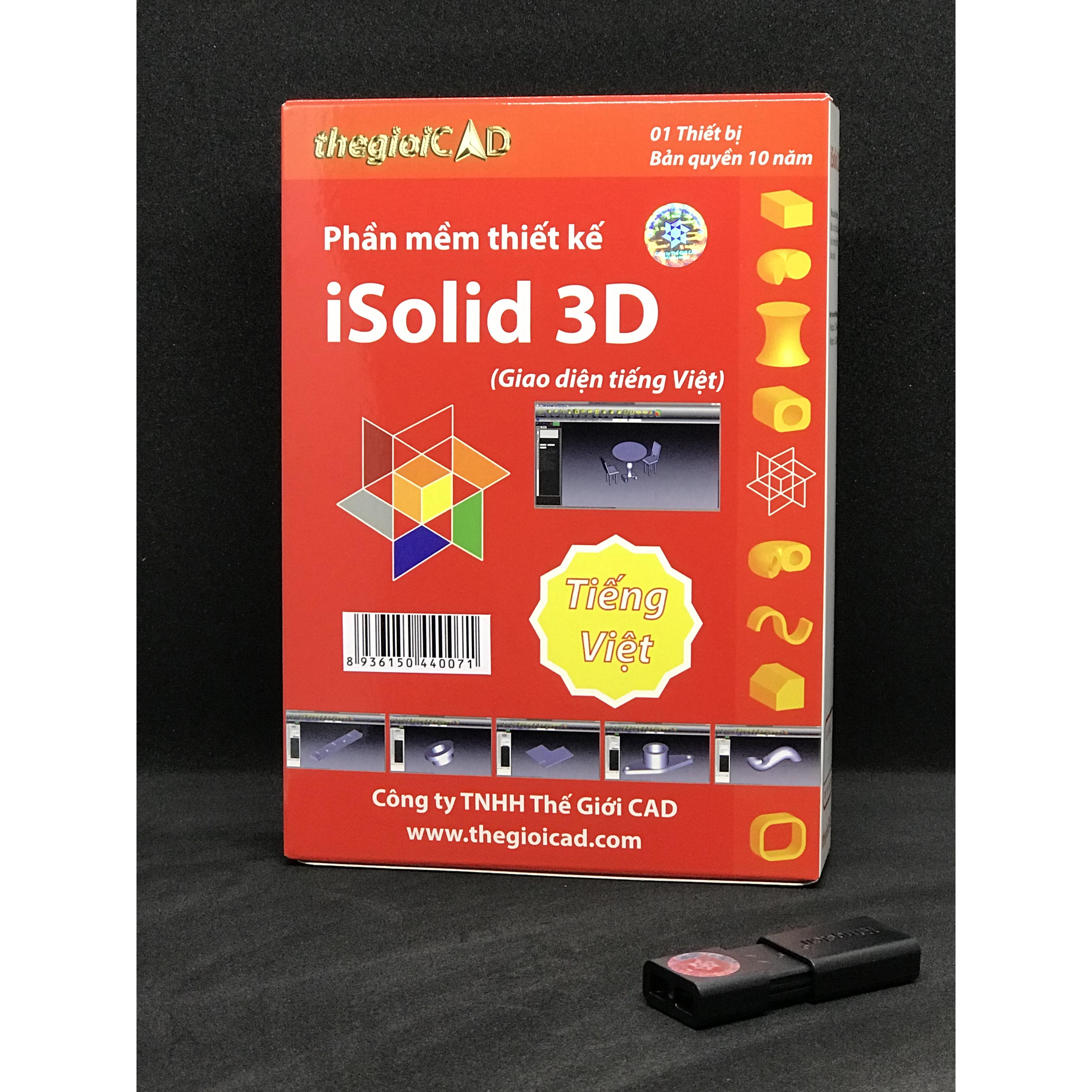 Phần mềm thiết kế iSolid 3D phiên bản tiêu chuẩn – Giao diện tiếng Việt (USB/2020)