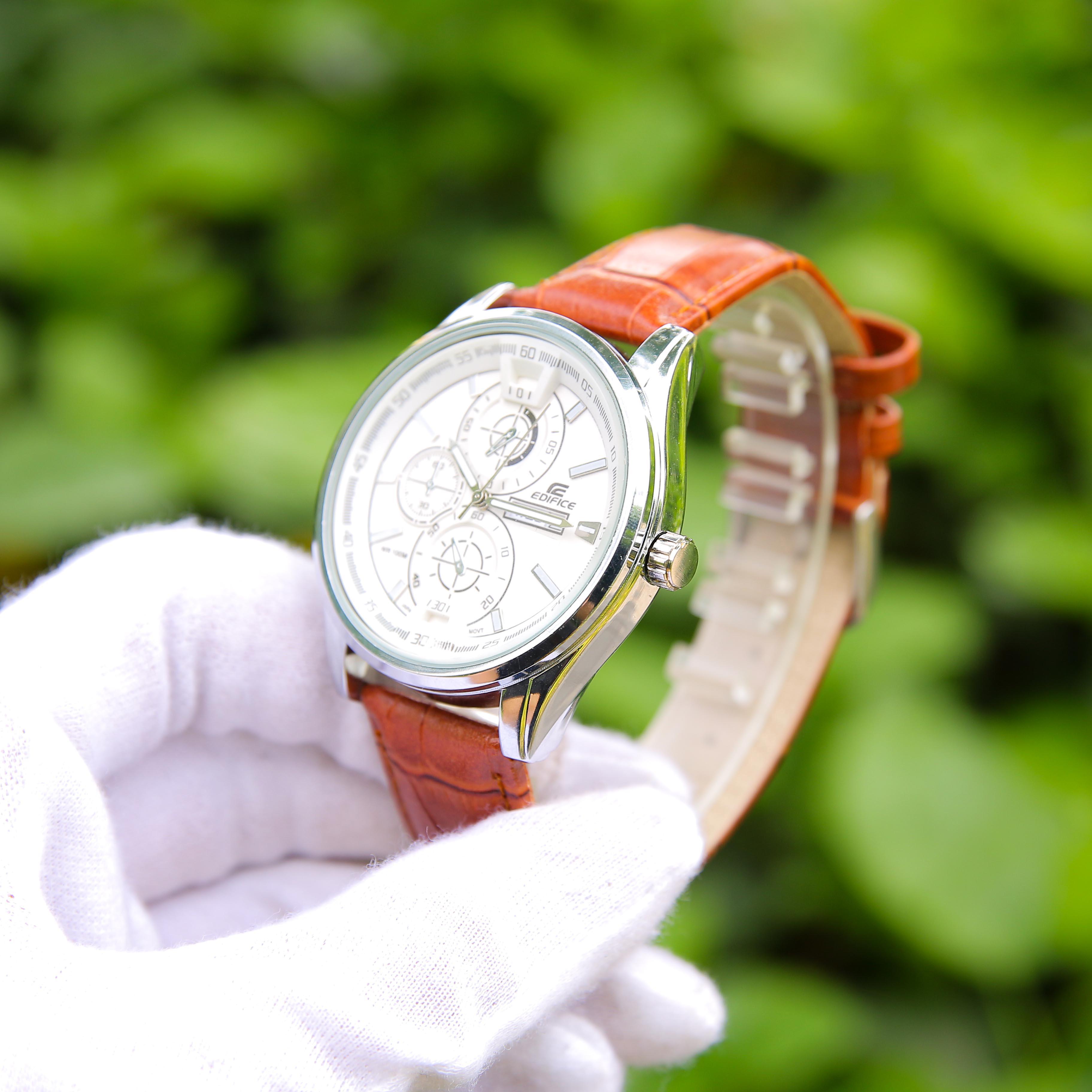 Đồng hồ nam dây da mặt tròn 6 kim CADN3051 phong cách Ý hiển thị 2 lịch ngày tháng – Thiết kế sang trọng – Lịch lãm – Dễ dàng kết hợp trang phục