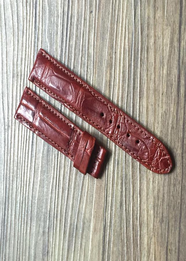Dây đồng hồ da cá sấu bản 20  hàng thương hiệu đồ da thật GOG DDH010