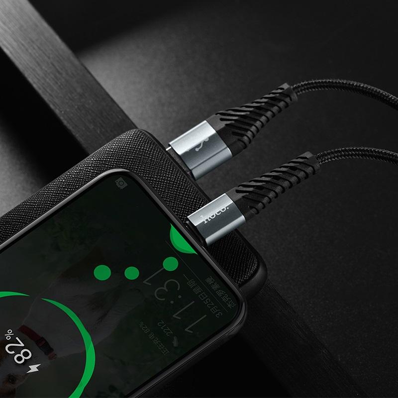 Cáp sạc dây dù HOCO X38 USB Type-C 1,2m (màu ngẫu nhiên)