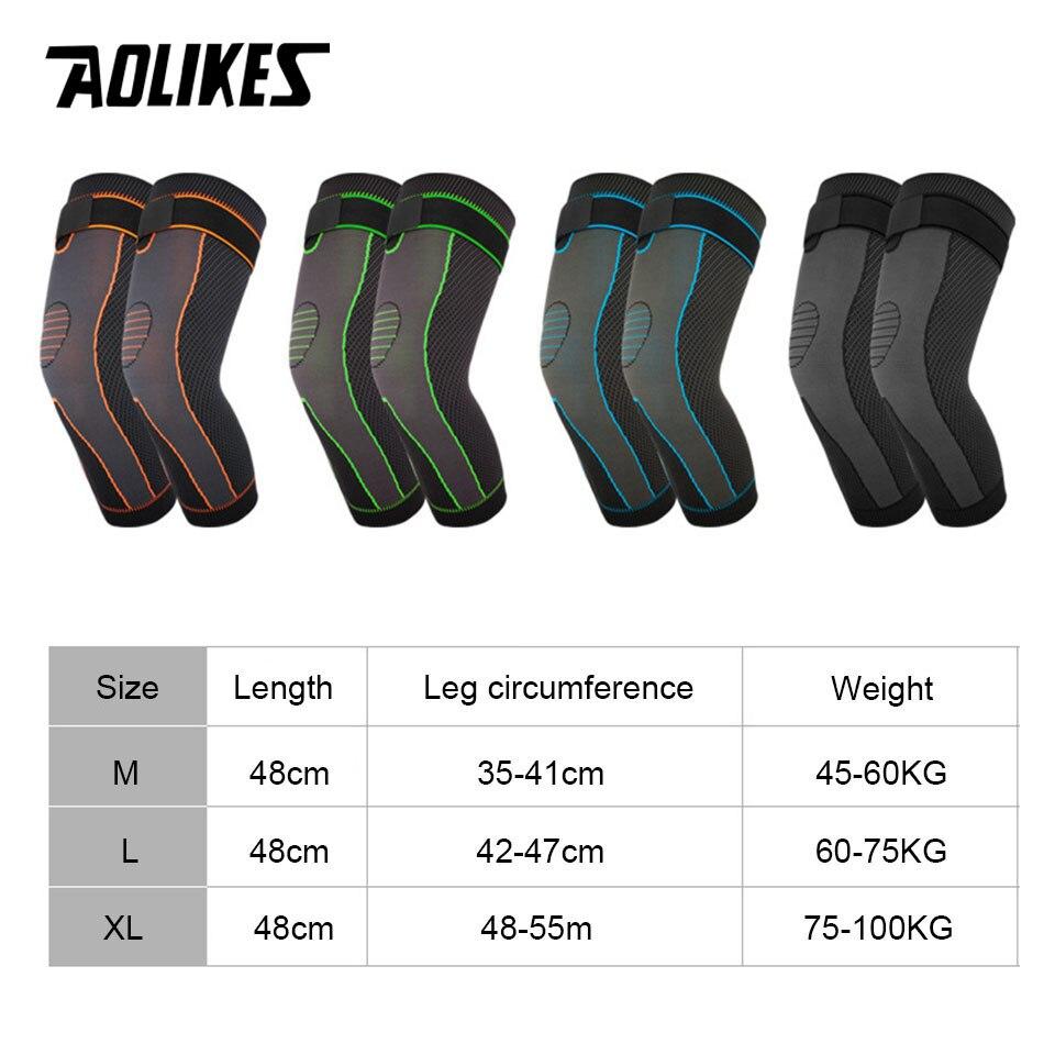 Bộ 2 bó gối thể thao loại dài AOLIKES A-7815-2 Elastic compression sports knee pads
