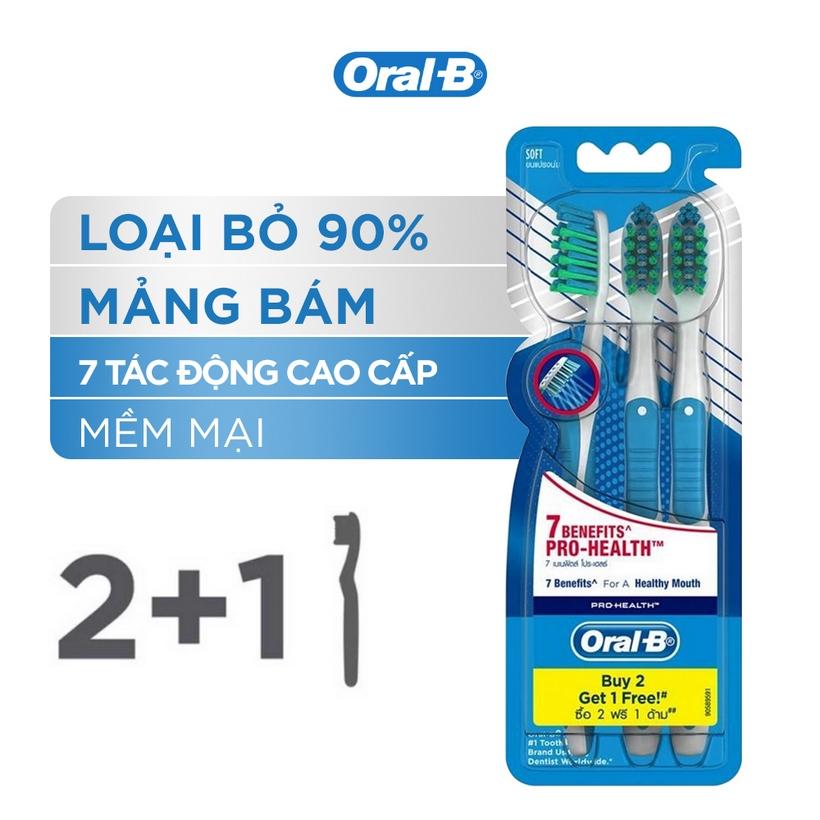Bộ Bàn Chải Đánh Răng Oral-B 7 Tác Động (Mua 2 tặng 1)
