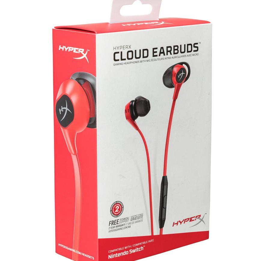 Tai nghe HyperX Cloud EARBUDS - HX-HSCEB-RD - Hàng Chính Hãng