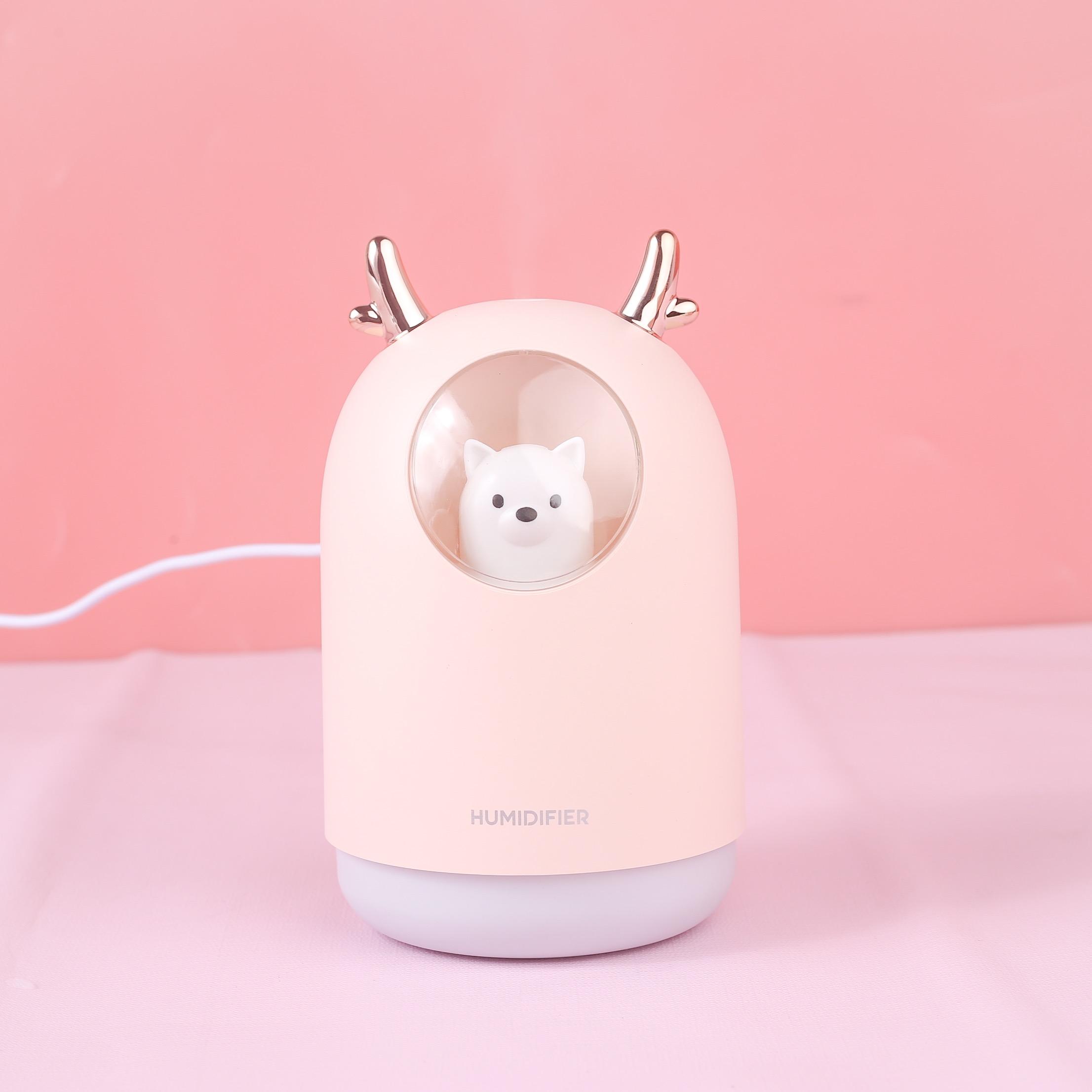 Máy Phun Sương,Tạo Độ Ẩm Essesa Hình Gấu Sạc USB Dung Tích 300ml- Hàng Chính Hãng