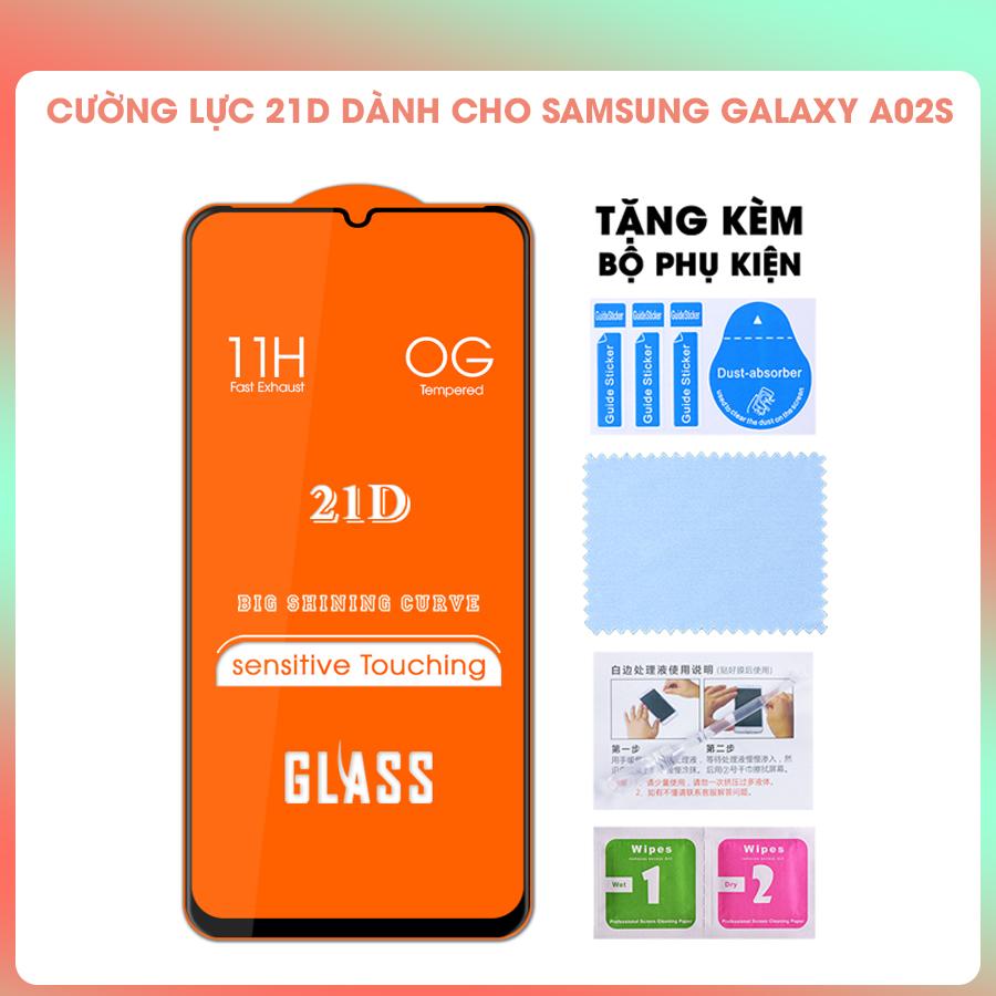 [Miếng dán màn hình] Kính Cường Lực 21D Cho Samsung Galaxy A02s Full Keo Màn Hình SIÊU BỀN, SIÊU CỨNG- Hàng Chính Hãng