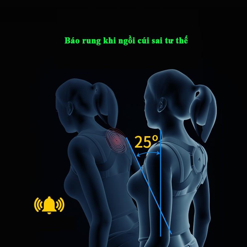 Đai chống gù lưng trẻ em người lớn nam nữ thông minh tự động cảm biến rung